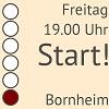 Start! am Freitag um 19.00 Uhr in Bornheim